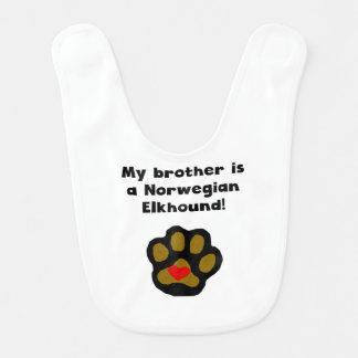 My Brother Is A Norwegian Elkhound Bibs