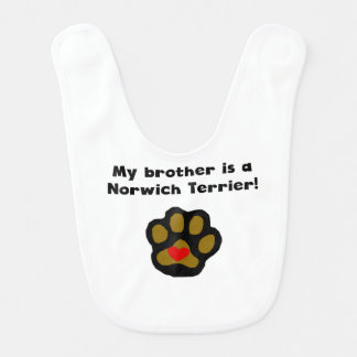 My Brother Is A Norwich Terrier Baby Bib