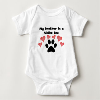 My Brother Is A Shiba Inu Baby Bodysuit