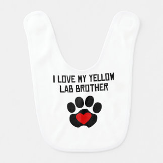 My Brother Is A Yellow Lab Bib