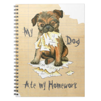 My Brussels Griffon Ate My Homework Spiral Note Book