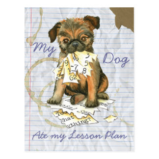 My Brussels Griffon Ate My Lesson Plan Postcard