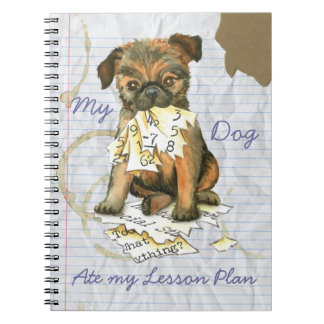 My Brussels Griffon Ate My Lesson Plan Spiral Note Books