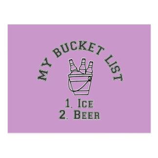 My Bucket List Humour - Ice & Beer Postcard
