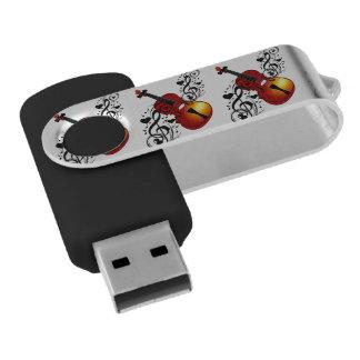 My Buddy,Violin_ Swivel USB 2.0 Flash Drive
