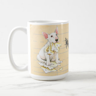 My Bull Terrier Ate My Homework Coffee Mug