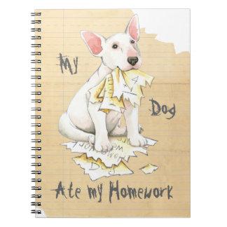 My Bull Terrier Ate My Homework Spiral Notebook