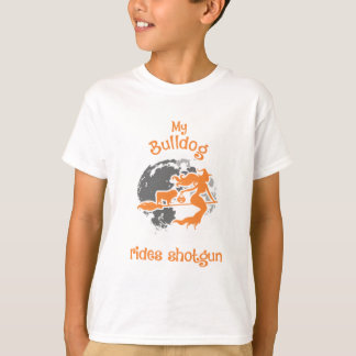 My Bulldog Rides Shotgun Halloween T-Shirt