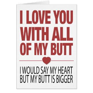 My Butt Card
