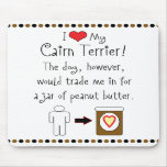 My Cairn Terrier Loves Peanut Butter Mouse Pad