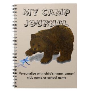 """""""My Camp Journal"""" Spiral Custom Journal Notebook"""
