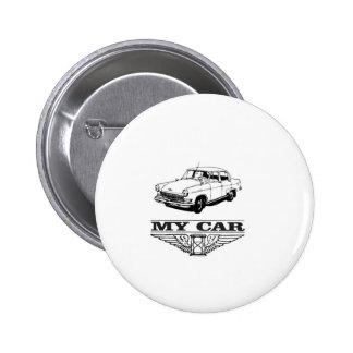 my car solid steel 2 inch round button