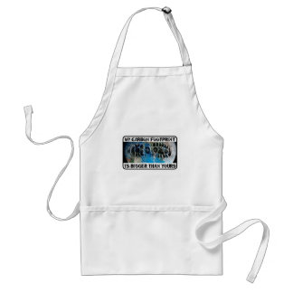 My Carbon Footprint Is Bigger Than Yours! Standard Apron