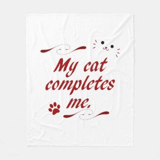 ❤ my cat! fleece blanket