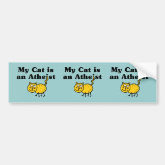 My Cat Is An Atheist Bumper Sticker