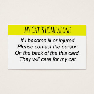 My Cat is Home Alone Business Card