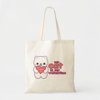 My Cat is my Valentine Tote Bag
