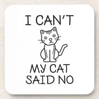 My Cat Said No Coaster