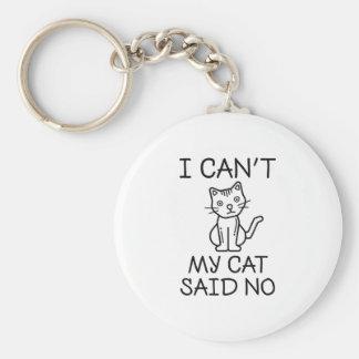 My Cat Said No Keychain