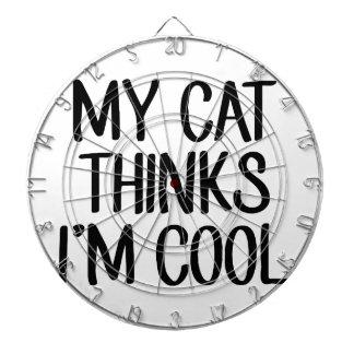 My Cat Thinks I'm Cool Dartboard