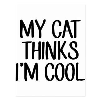 My Cat Thinks I'm Cool Postcard