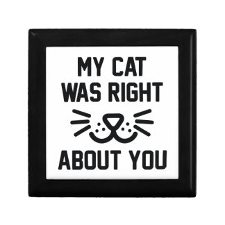 My Cat Was Right Gift Box