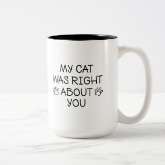 My Cat Was Right Two-Tone Coffee Mug