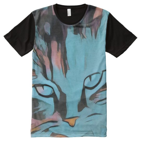My cats eyes full print Tshirt