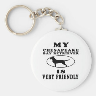 My Chesapeake Bay Retriever is very friendly Keychain