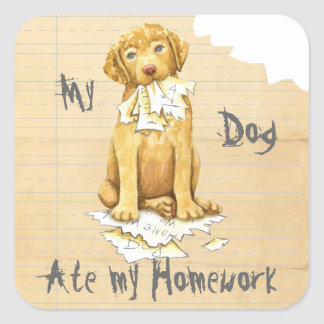 My Chessie Ate My Homework Square Sticker