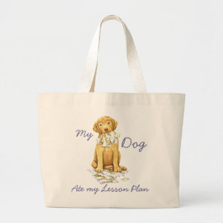 My Chessie Ate My Lesson Plan Large Tote Bag