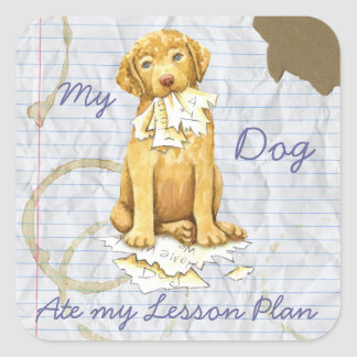 My Chessie Ate My Lesson Plan Square Sticker