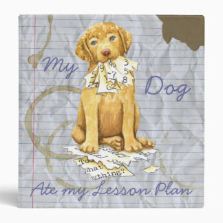 My Chessie Ate My Lesson Plan Vinyl Binder