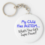 My Child Has Autism Whats Your Kids Super Power Keychain