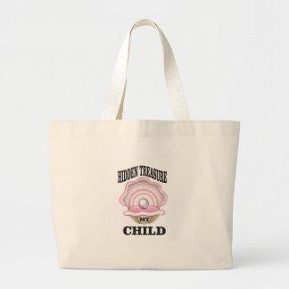 my child hidden treasure large tote bag