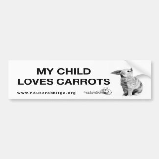 My Child Loves Carrots Bumper Sticker