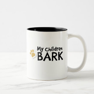 My Children Bark - Funny Gifts for Dog Lovers Two-Tone Coffee Mug