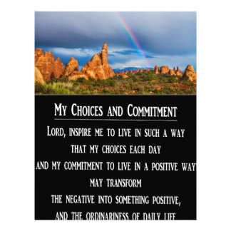 My Choices and Commitment Prayer Letterhead Design