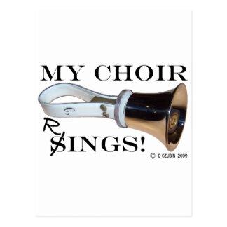 My Choir Rings Postcard