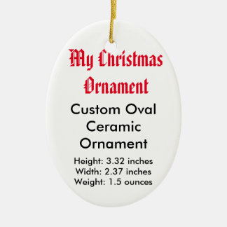 My Christmas Custom Ceramic Flat Ornament (Oval)