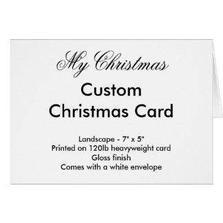 My Christmas Custom Christmas Card - Landscape