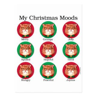 My Christmas Moods Postcard