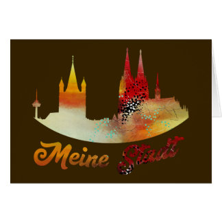 My city Cologne greeting map Card