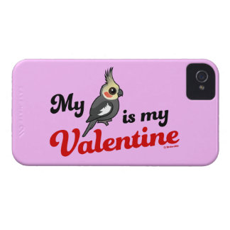 My Cockatiel Is My Valentine iPhone 4 Case-Mate Cases