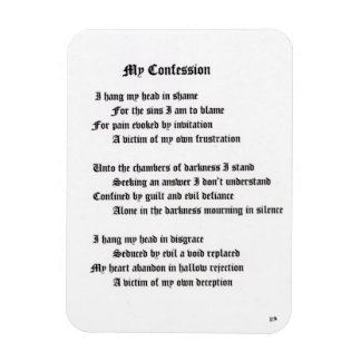 My Confession Rectangular Photo Magnet