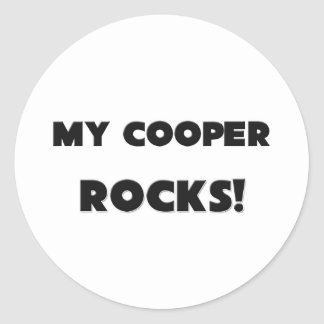 MY Cooper ROCKS! Classic Round Sticker