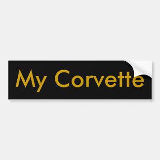 My Corvette Bumper Sticker