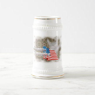 My country, My Troops, ILY Beer Stein