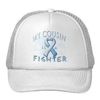 My Cousin is a Fighter Light Blue Trucker Hat