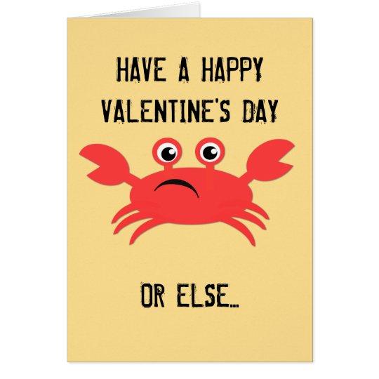 My Crabby Valentine Card